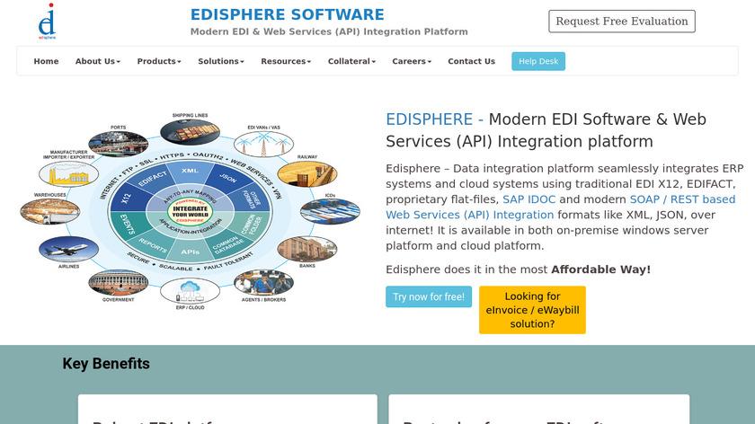 Edisphere Software Landing Page