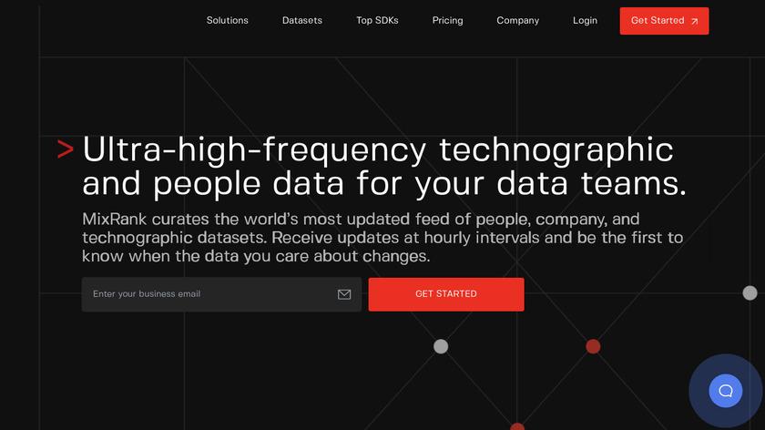 MixRank Landing Page
