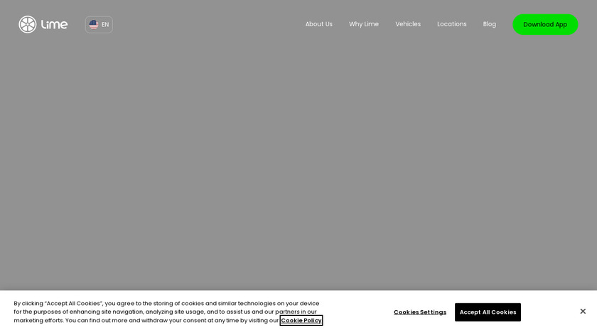 LimeBike Scooters Landing Page