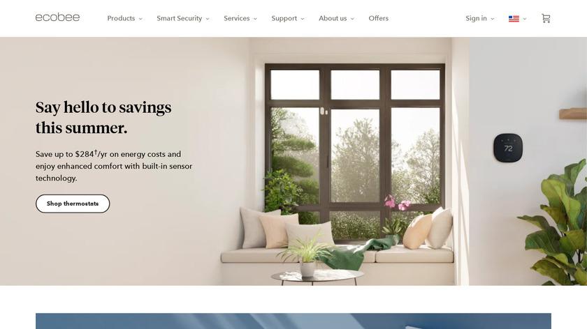 ecobee Landing Page