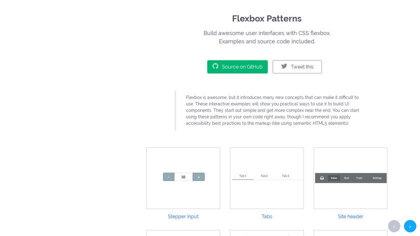 FlexboxPatterns Landing Page