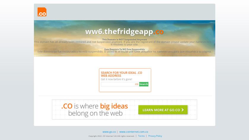 The Fridge Landing Page