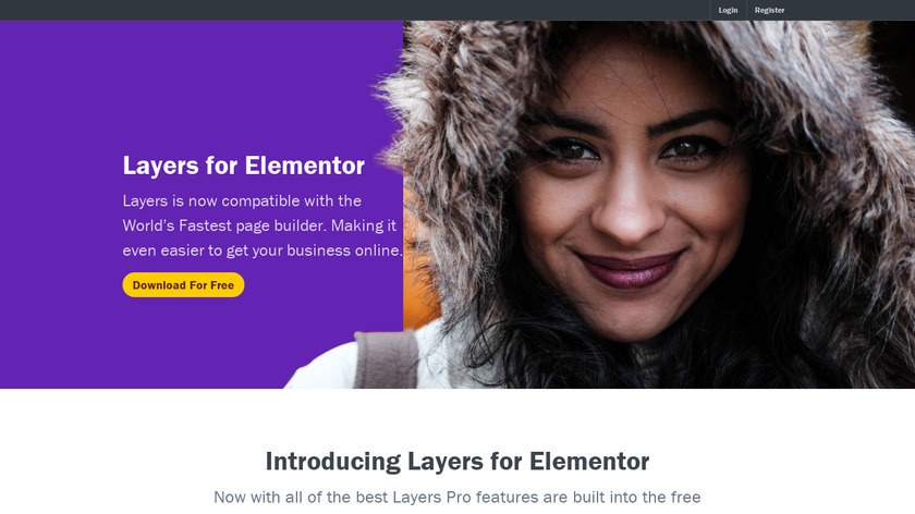 Layers Landing Page
