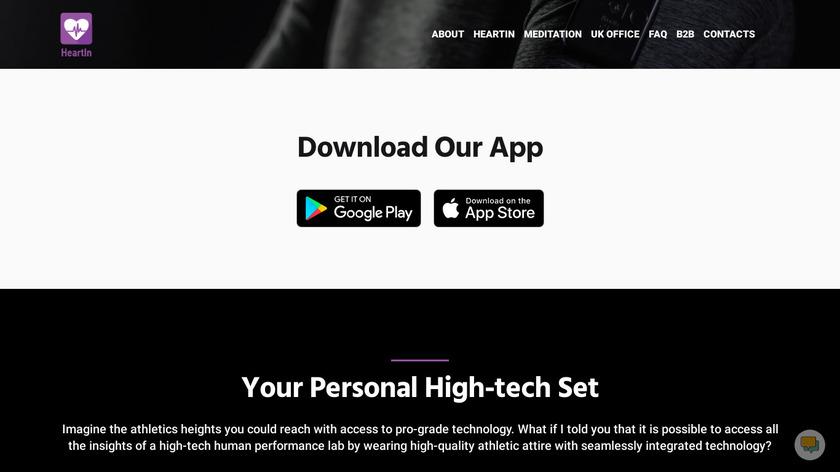 HeartIn Portable Electrocardiograph Landing Page