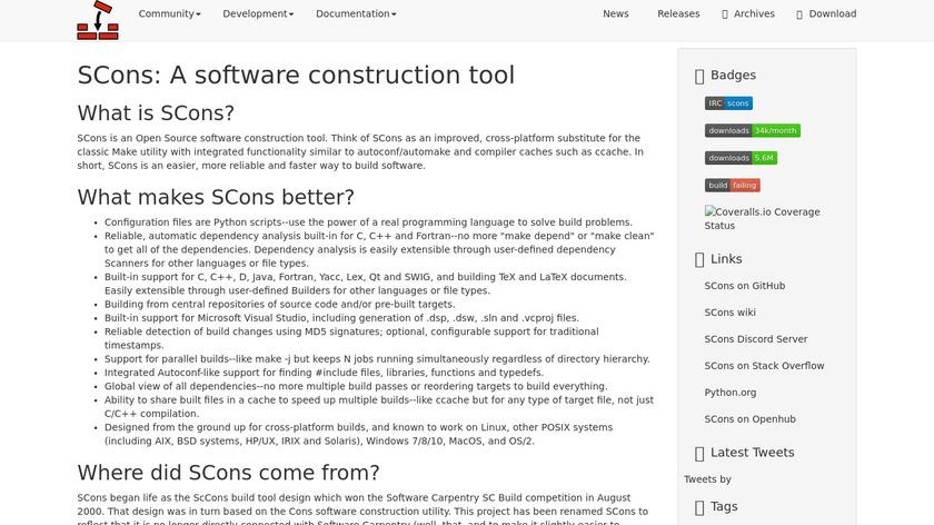 SCons Landing Page