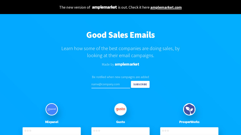 Good Sales Emails Landing Page