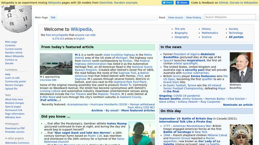 Volupedia Landing Page