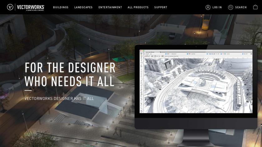 Vectorworks Designer Landing Page