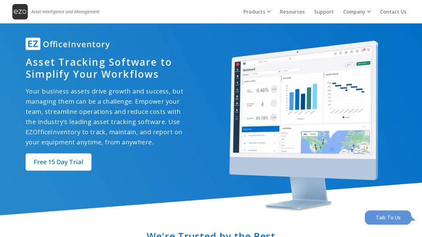 EZOfficeInventory Landing Page