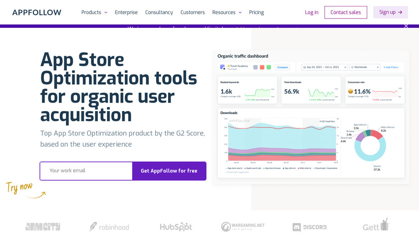 ASO Tools by AppFollow Landing Page