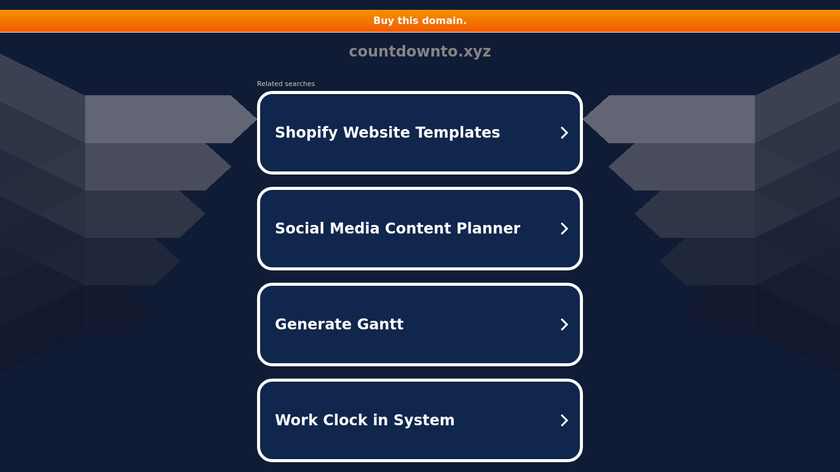 Countdown to Landing Page
