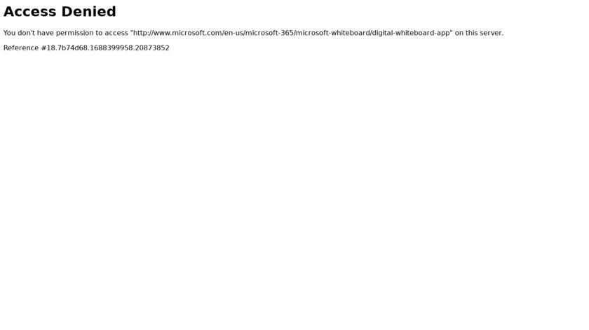 Microsoft Whiteboard Landing Page