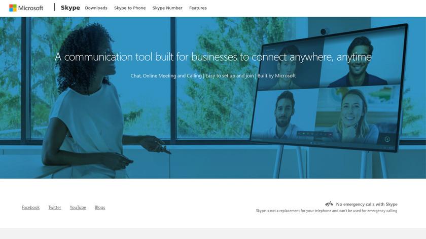 Skype Meetings Landing Page