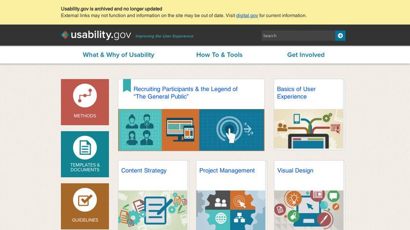Usability.gov Landing Page
