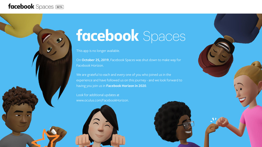 Facebook Spaces Landing Page