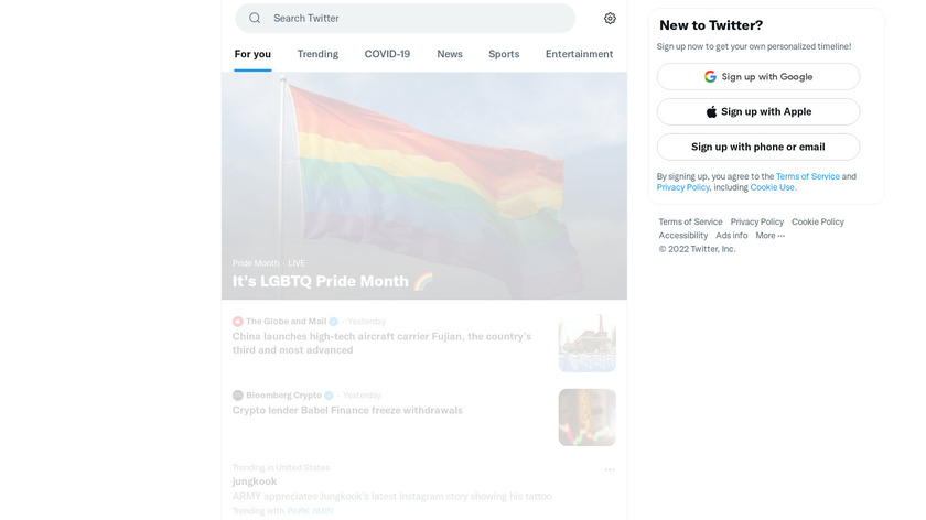 Twitter Moments Landing Page