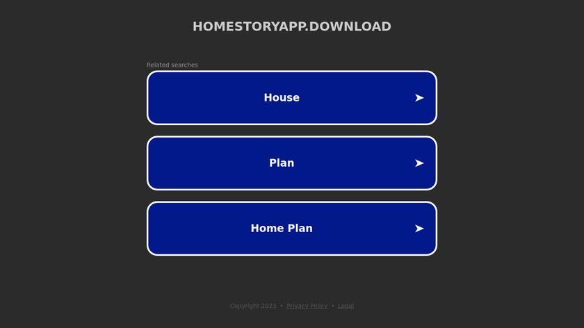 Homestory AR Landing Page