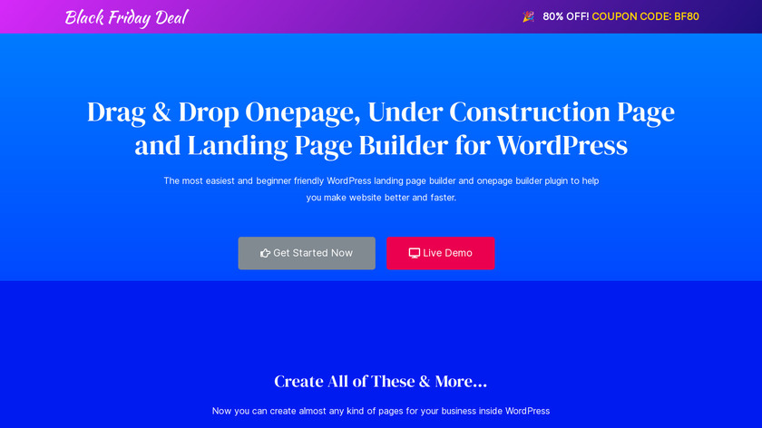 OnePager Landing Page