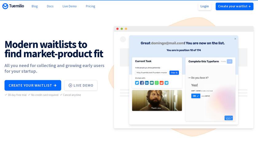 Tuemilio MVP Validator Toolkit Landing Page