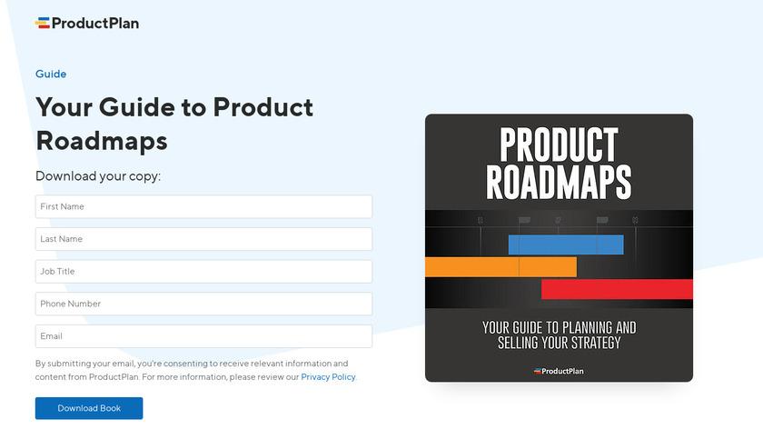 Product Roadmaps Landing Page