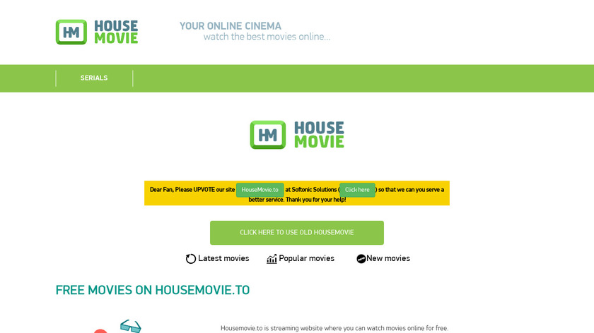 House Movie Landing Page