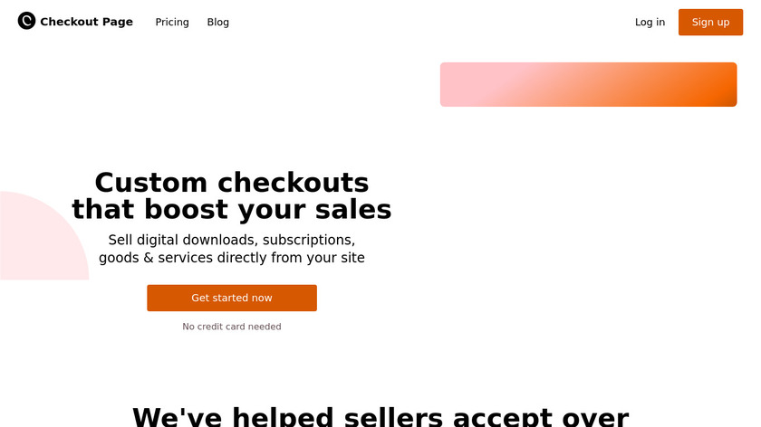 Checkout Page Landing Page