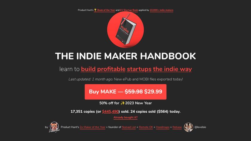 MAKE Book Landing Page