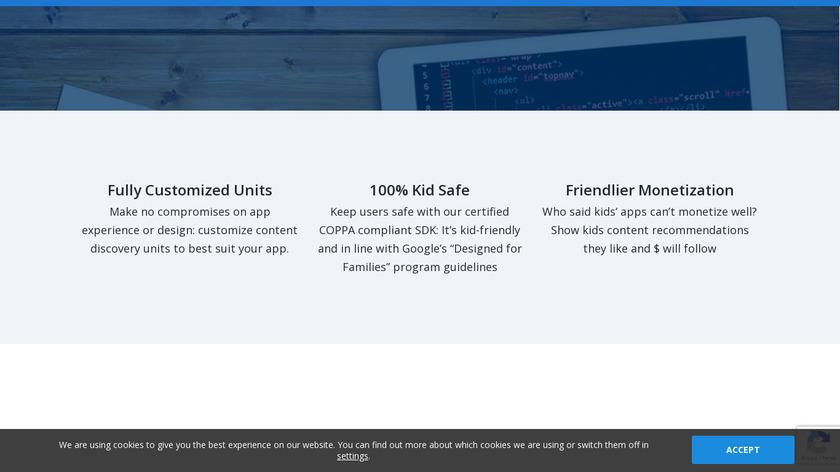Kidoz SDK Landing Page
