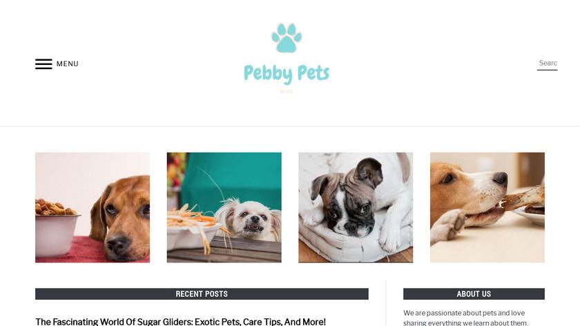 Pebby Pet Camera Landing Page