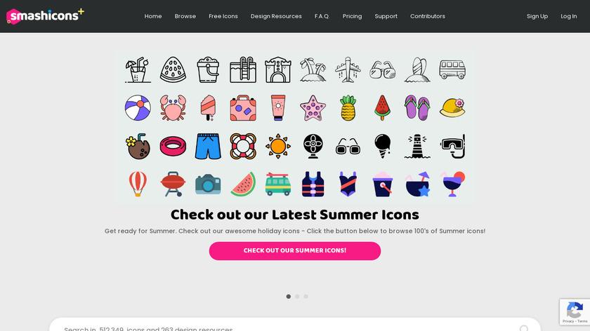 Smashicons Landing Page