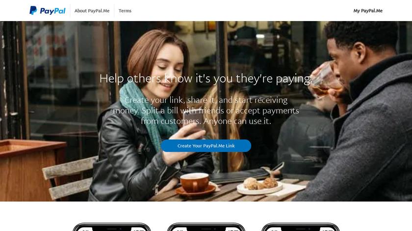 PayPal.Me Landing Page