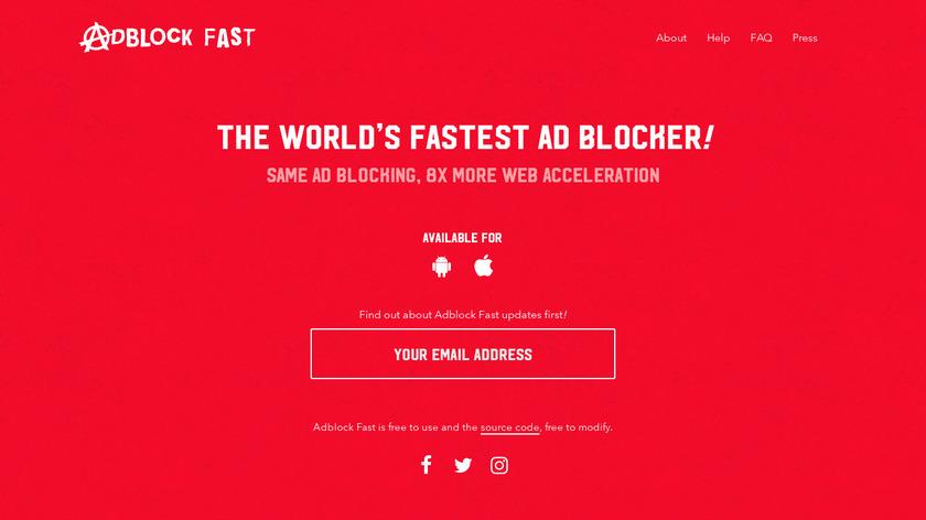 Adblock Fast Landing Page