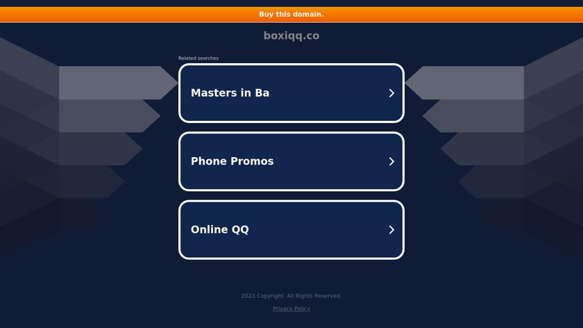 boxiqq Landing Page