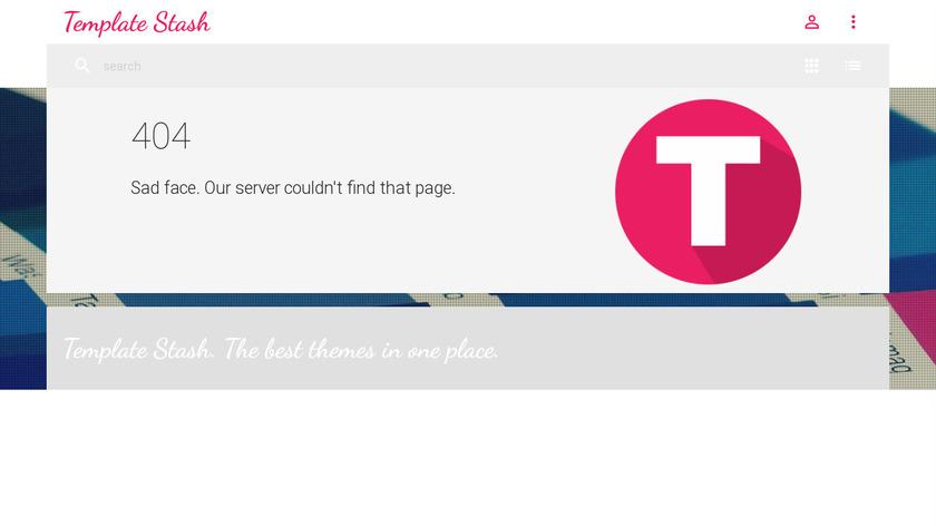 Template Stash Landing Page