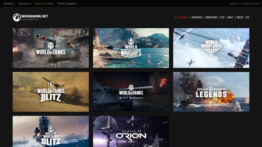 World of Tanks Landing Page