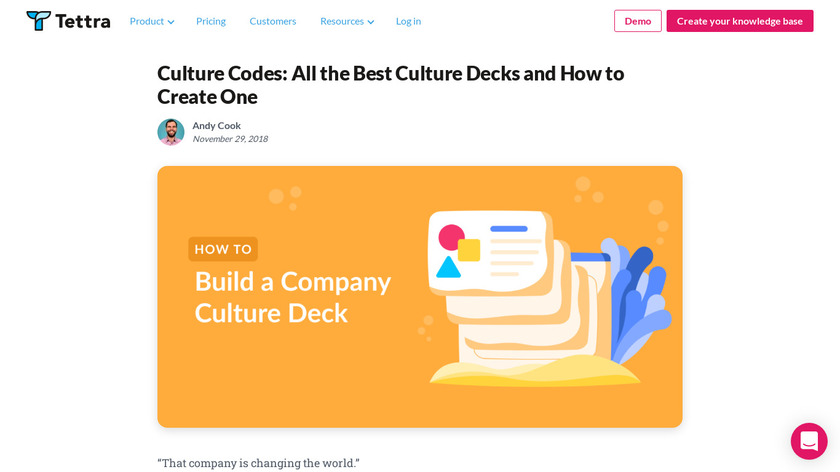 Culture Codes Landing Page