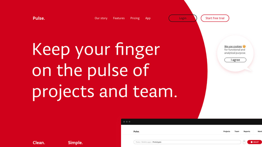 Pulse.red Landing Page