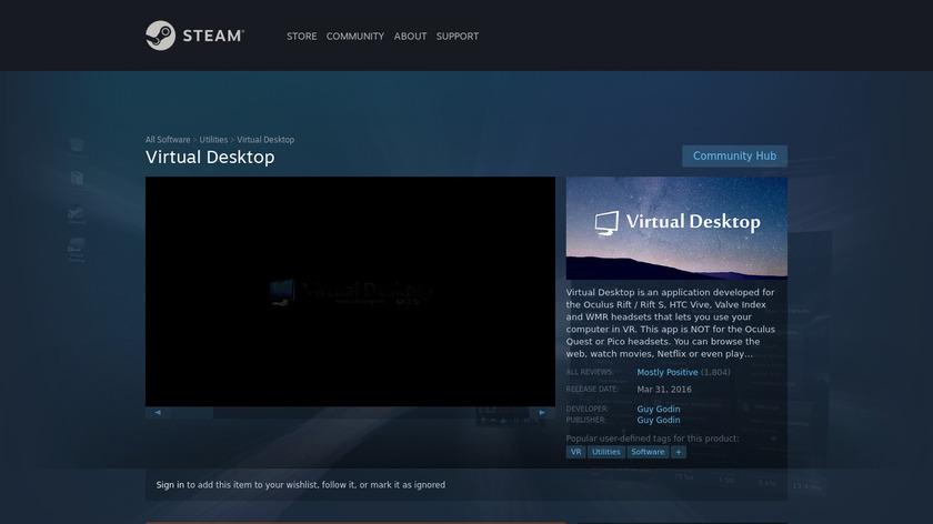 Virtual Desktop Landing Page