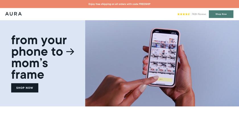 Aura Frame Landing Page