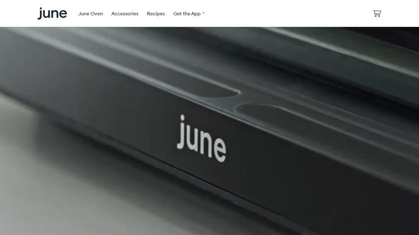 June Intelligent Oven Landing Page