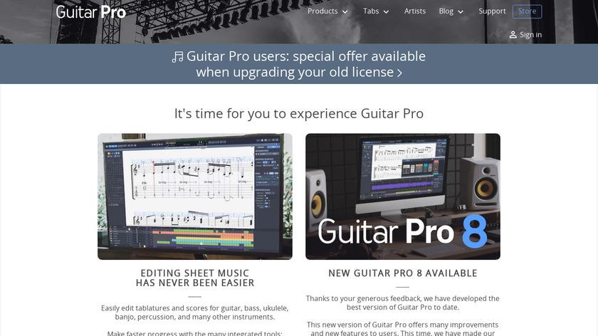 Guitar Pro 7 Landing Page