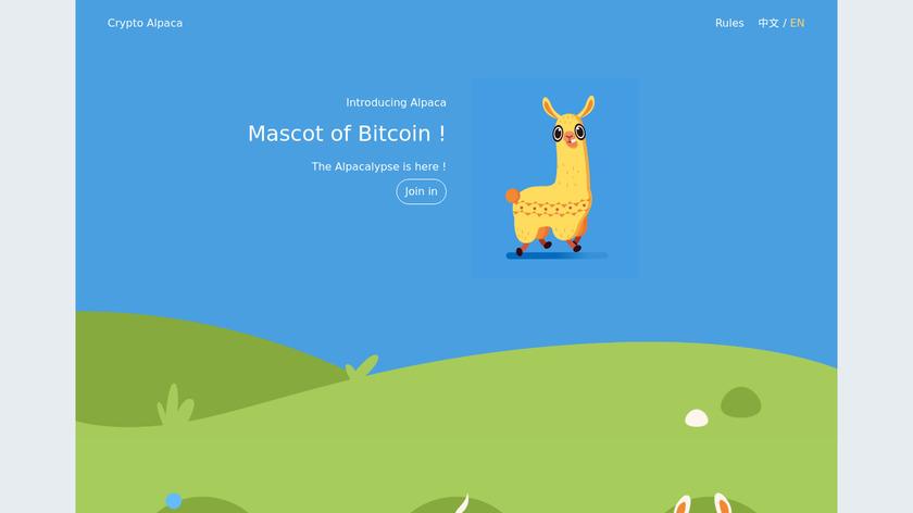 CryptoAlpaca Landing Page