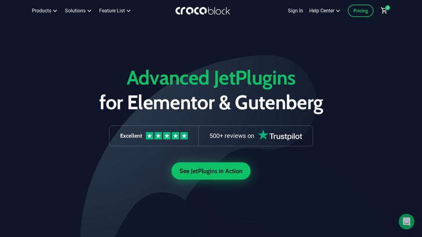 CrocoBlock Landing Page