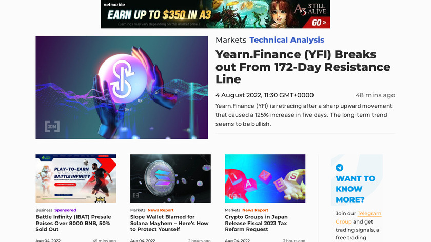 Be In Crypto Landing Page