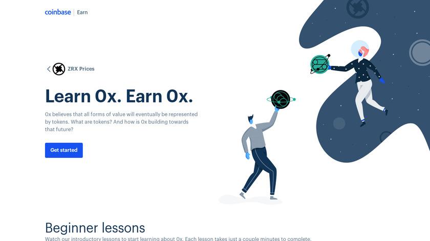 Coinbase Earn Landing Page