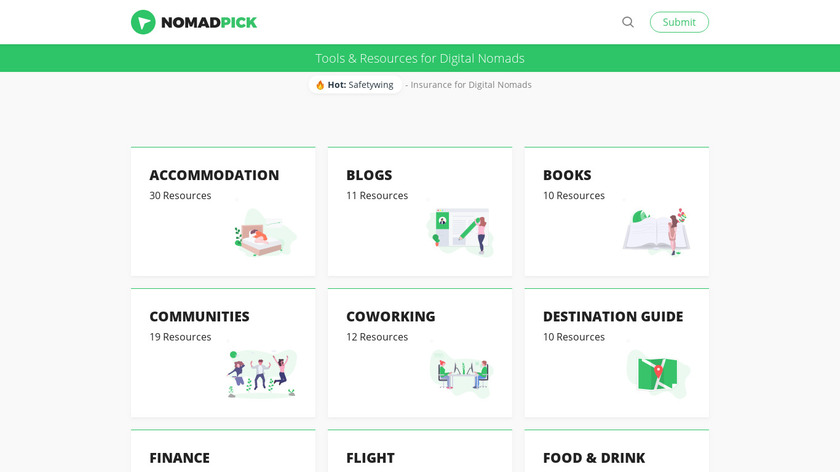 Nomadpick Landing Page