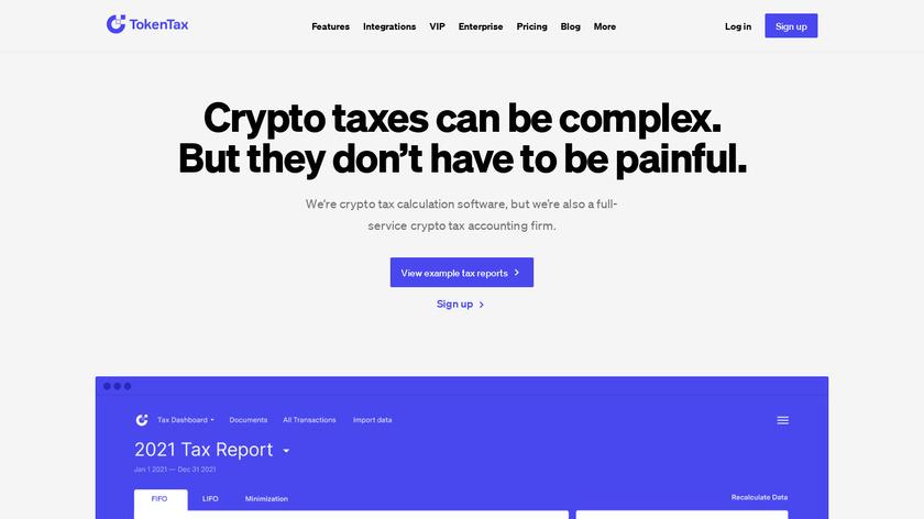 TokenTax Landing Page
