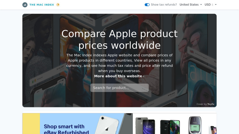 The Mac Index Landing Page