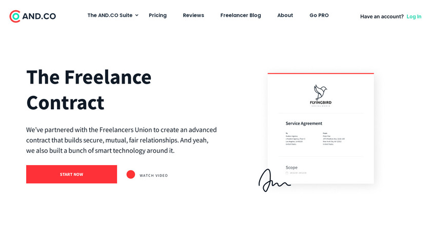 The Standard Freelance Contract Landing Page