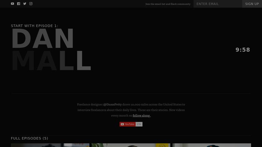 Freelance TV Landing Page